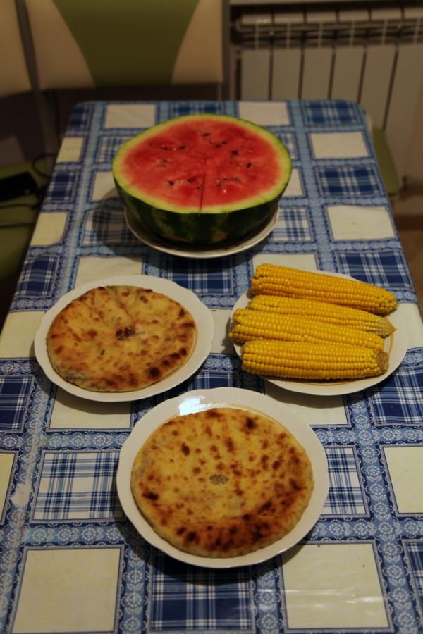 цахараджын, кабускаджын, кукуруза и арбуз