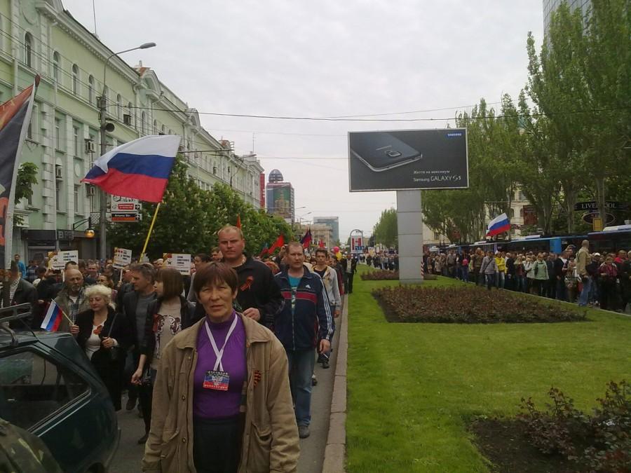 фото №10 (шествие к памятнику Воинам-освободителям)