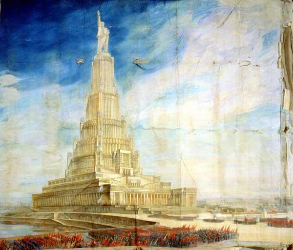 Дворец Советов в Москве. Б. Иофан, В. Щуко, В. Гельфрейх. Вариант 34 года.