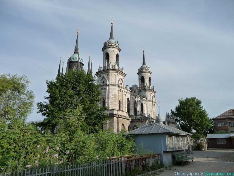 Церковь в честь Иконы Владимирской Божьей Матери 1789г. По проекту В.И. Баженова
