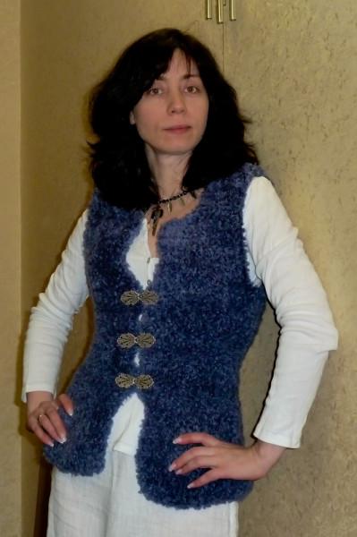 Фото рукава по меховую жилетку Вязание я.