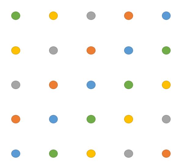 Dobble 5x5 diagonal