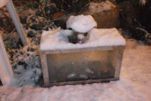 Ханукия под снегом :)