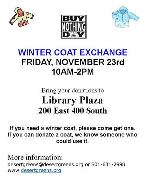 Buy Nothing Day Coat Exchange