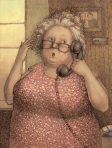 БабаРоза с телефоном