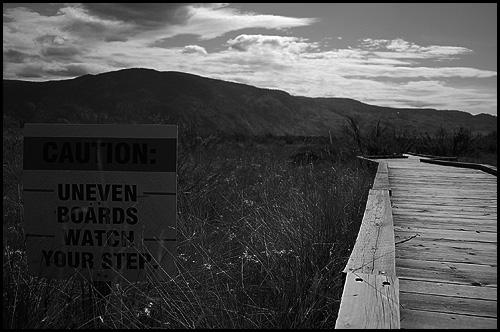 Caution: desert