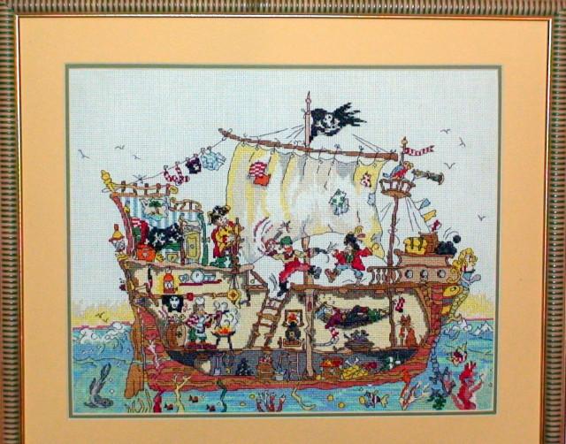 Вышивка схема пиратский корабль