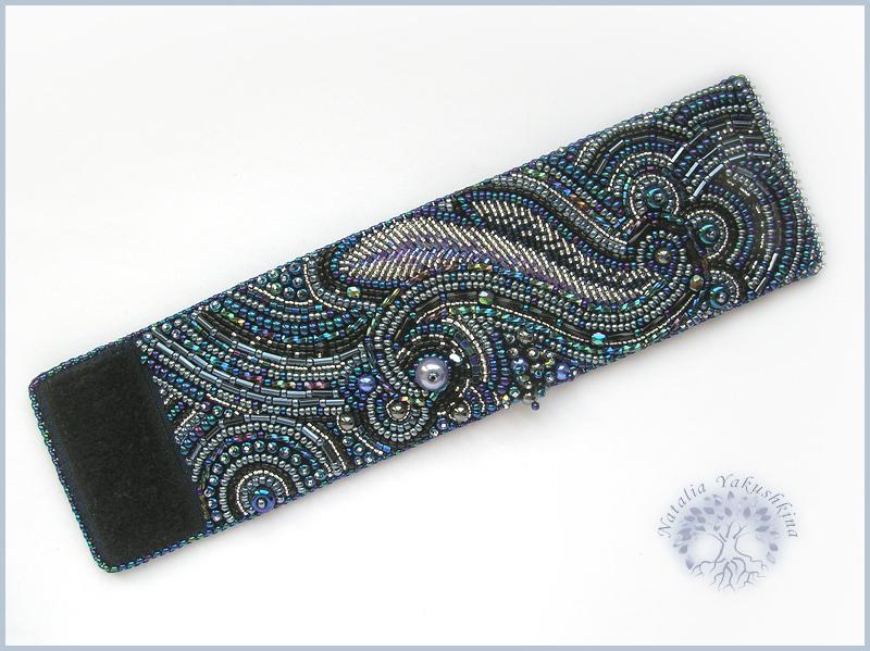браслеты из бисера на коже схемы