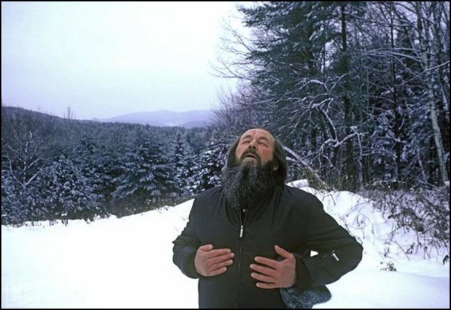 """""""Александр Солженицын. Дыхание Свободы"""".(Вермонт. Фото Гарри Бенсона)"""