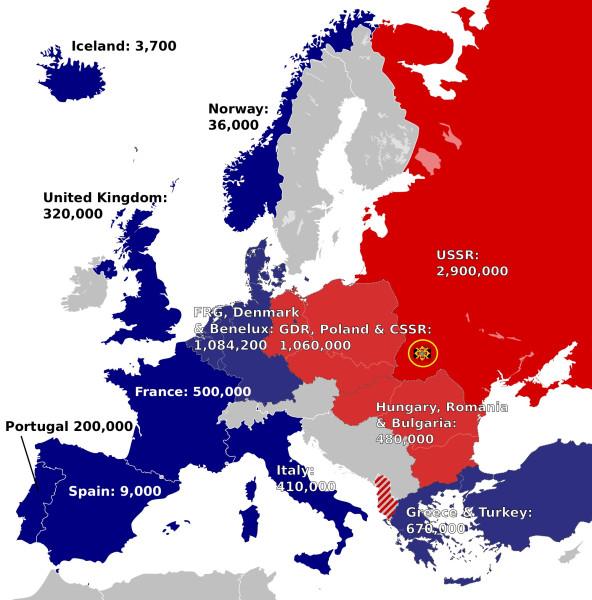 военно-политическая карта Европы