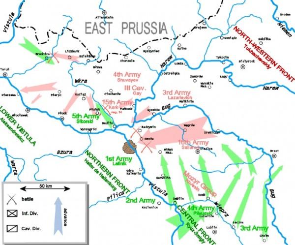 Варшавская битва. 2-ая фаза