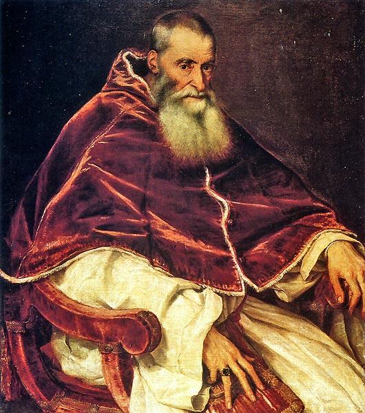 Тициан. Папа Павел III (1543 г.)