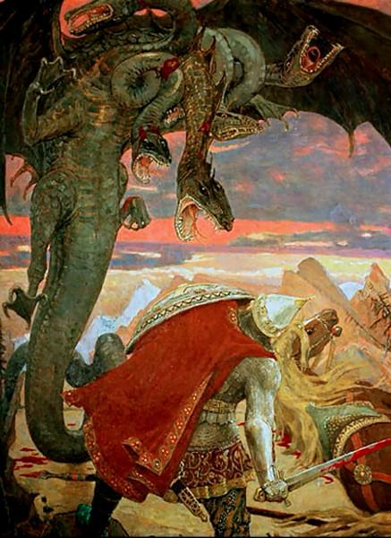 бой Добрыни со Змеем Горынычем