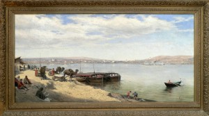 Ф.М. Корнеев. Вид Саратова с заволжской стороны. 1890-е годы