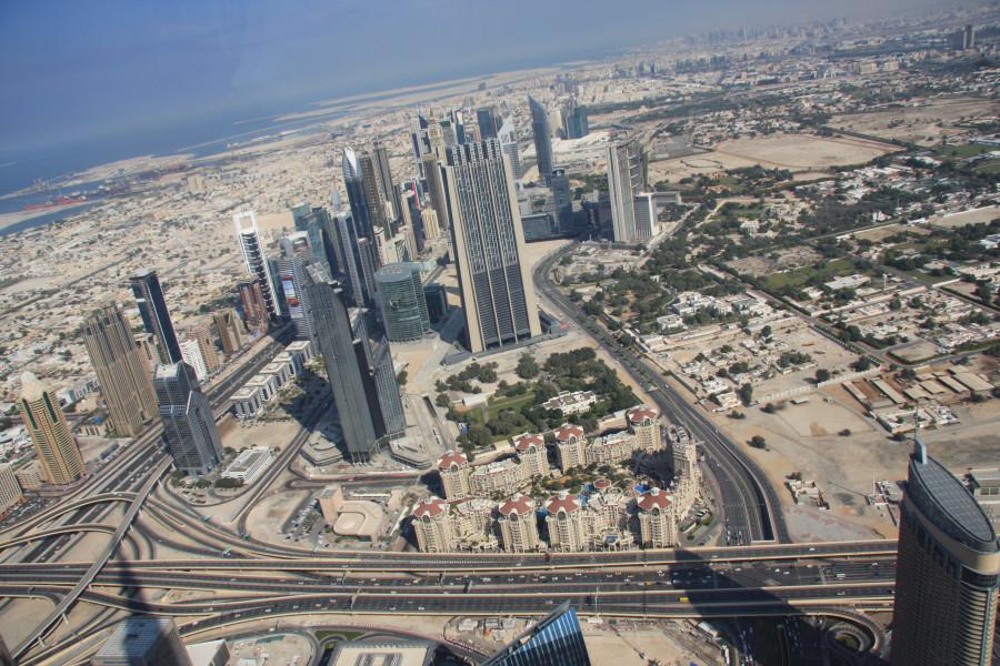Вид со смотровой площадки Бурдж Халифа