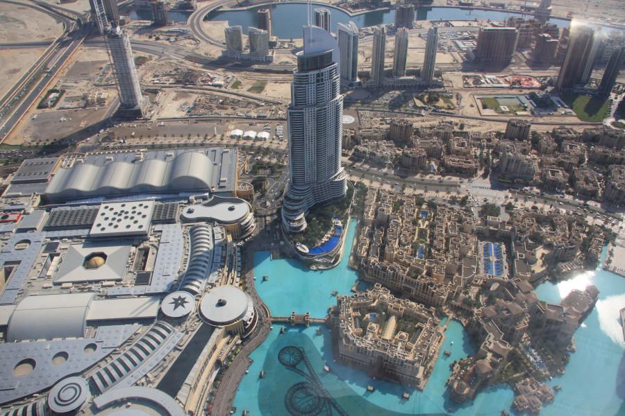 Вид со смотровой площадки Бурдж Халифы 2