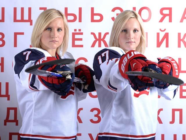 Моника и Жослин Ламуро (США) - хоккей