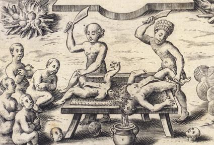 Caspar_Plautius_-_Indios_als_Kannibalen,_1621