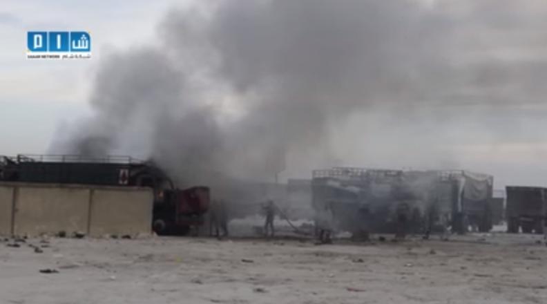 2015-11-25 22-04-47 شام استهداف الطيران الروسي لمركز تجمع الشاحنات في اعزاز بريف حلب 25 11 2015 - YouTube - Google C