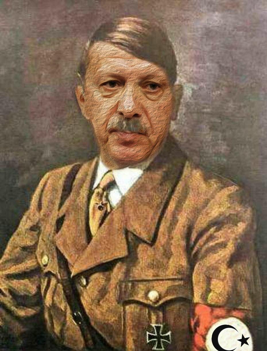 Recep-Tayyip-Erdogan-Adolf-Hitler-Mischung-Diktatur-Europa-Tuerkei-Beitritt