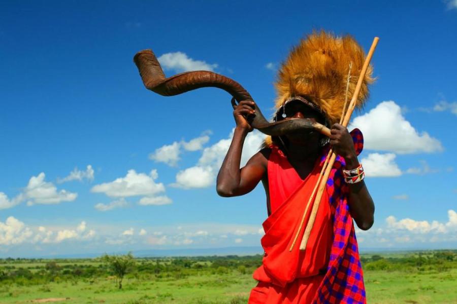 Племя_Масаи_Мара_в_Кении