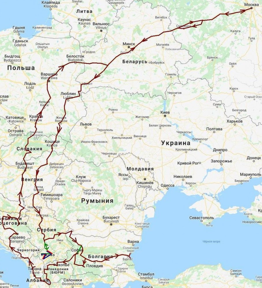 Балканы-2019. Путешествие туда и обратно