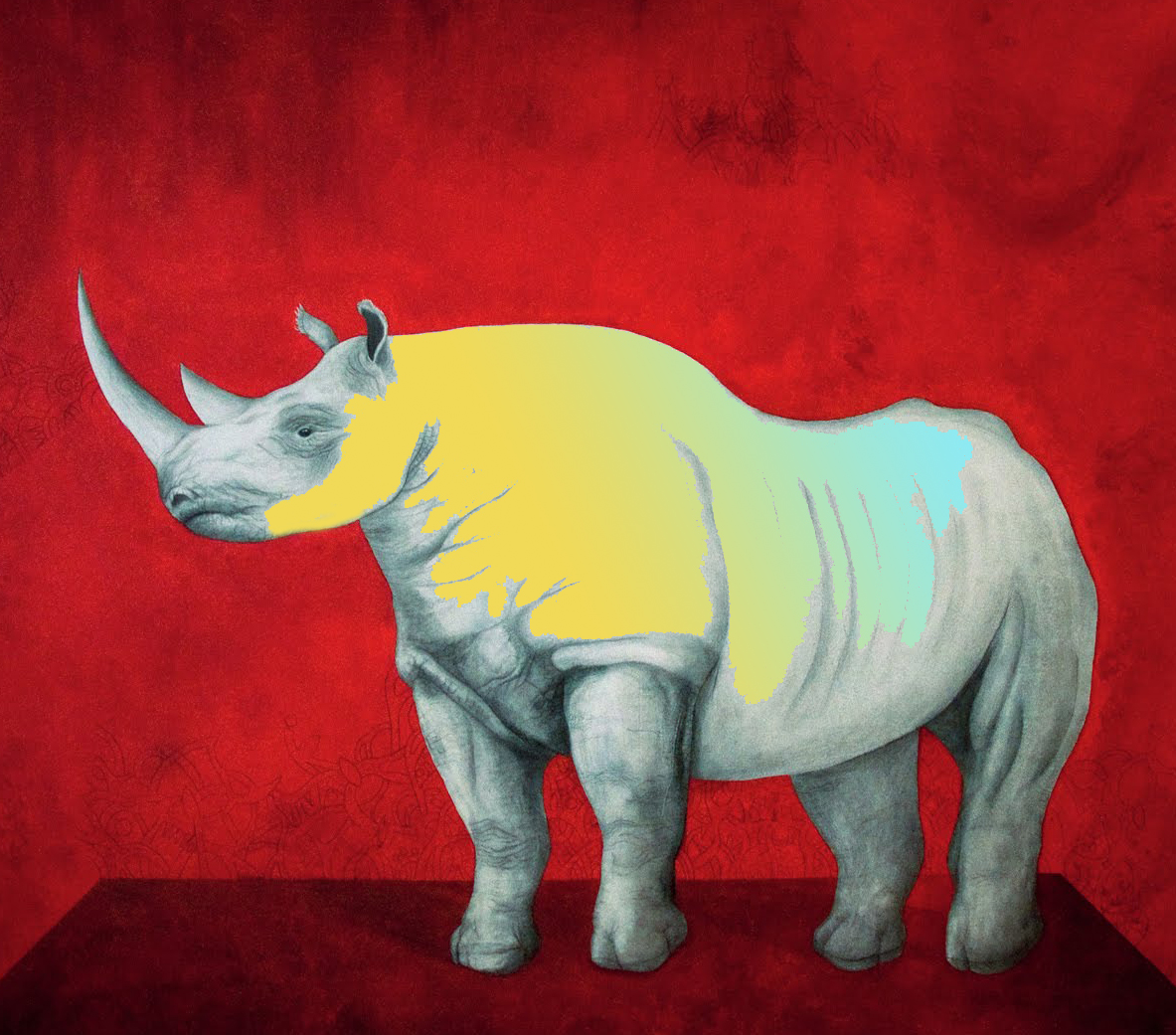 the-white-rhino-by-antonio-guerrero-contemporary-cuban-artist-arte-cubano-cuban-art-cuban-master-contemporary-art-2
