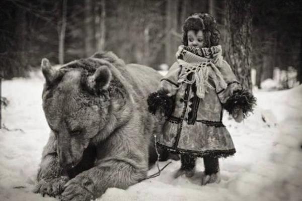 девочка медведь