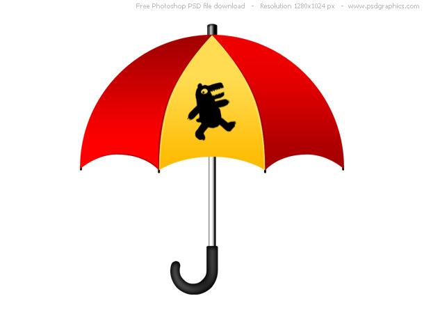 red-yellow-umbrella