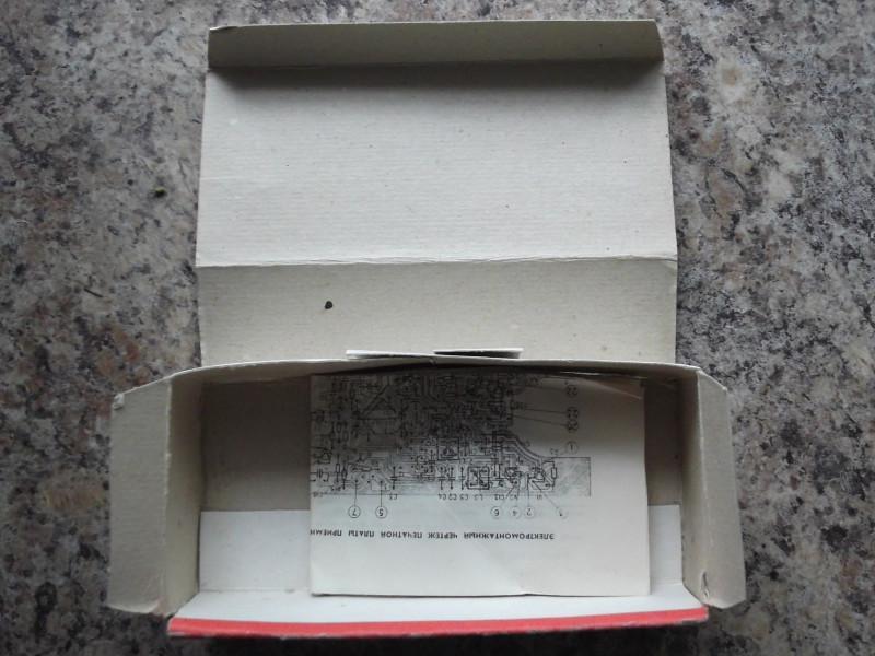 коробка внутри и инструкция со схемой