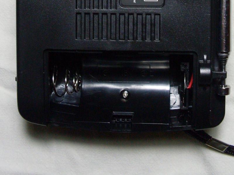 батарейный отсек для D формата