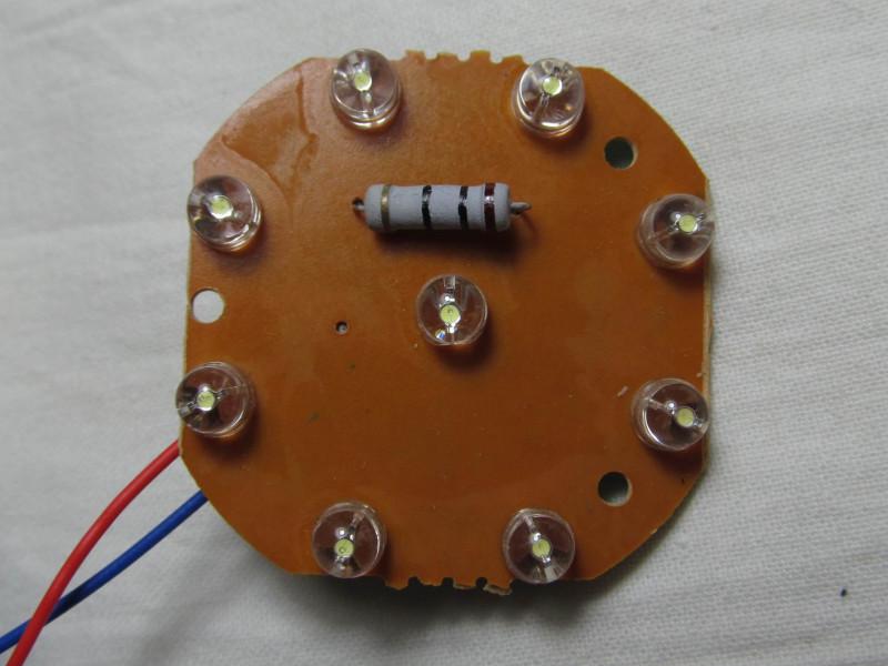светодиоды с резистором на плате