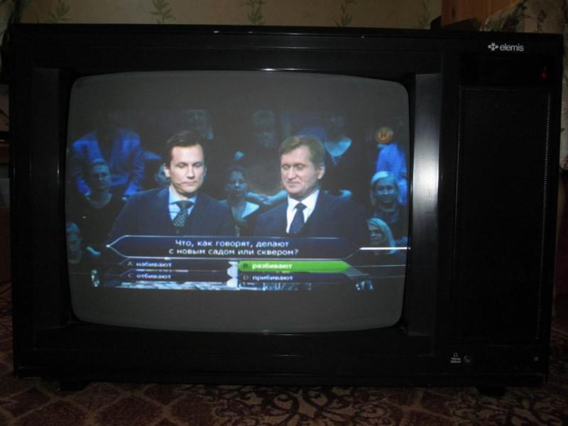 Показывает телеканал ОНТ из DVB-Tчерез SCART с приставки GoldMaster 707HD в Беларуси