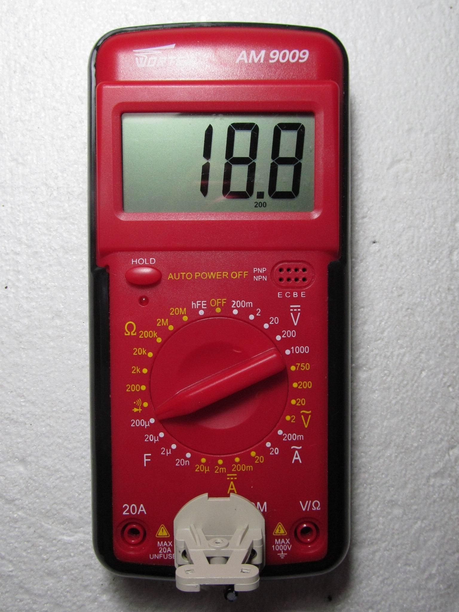 измерение конденсатора на 22 мкФ