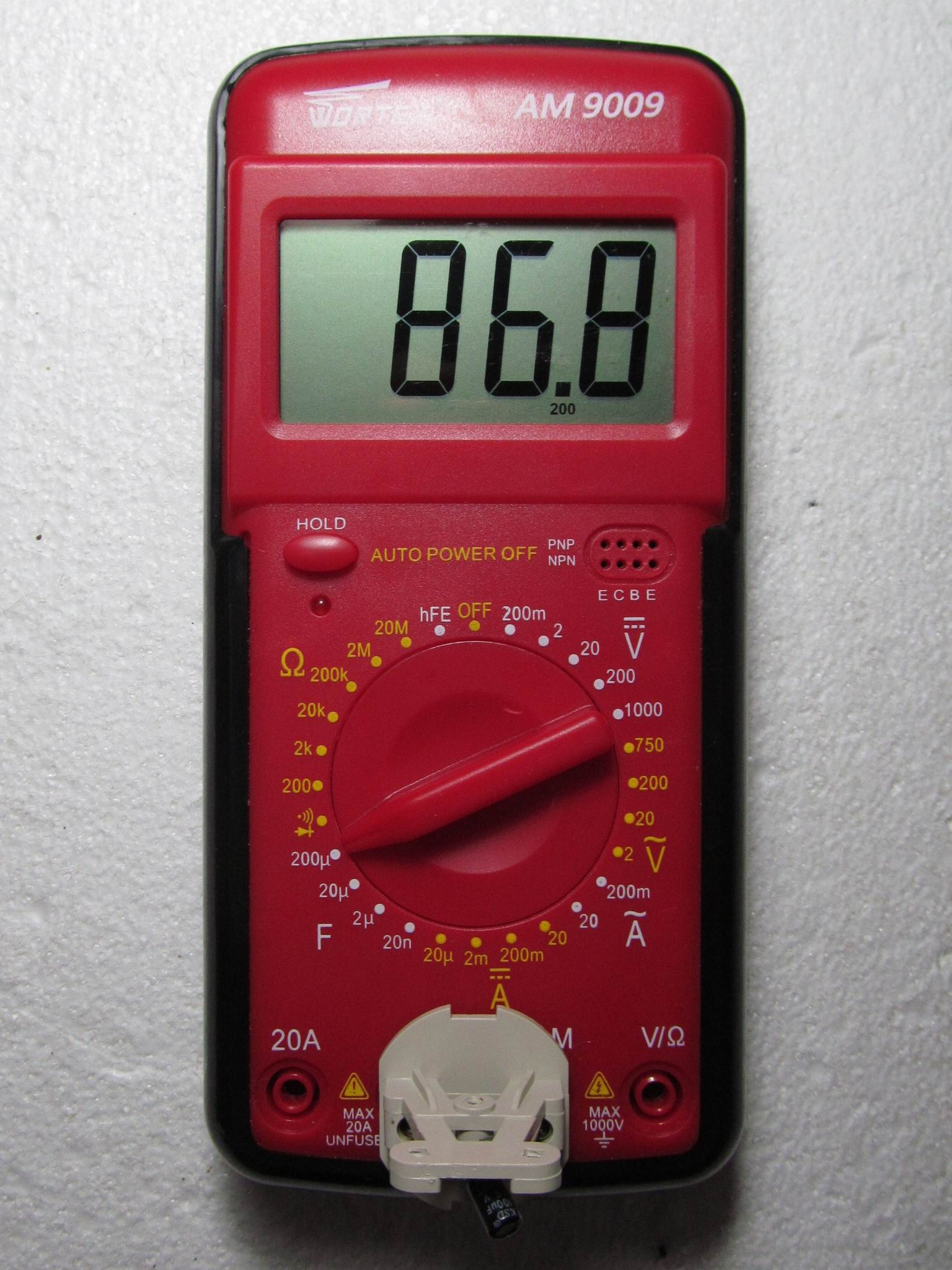 измерение конденсатора на 100 мкФ