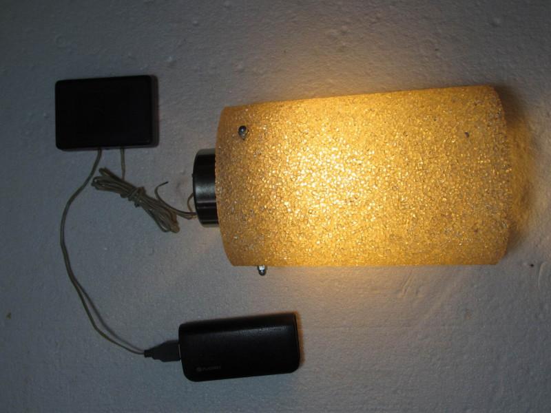 светильник с питанием от power bank