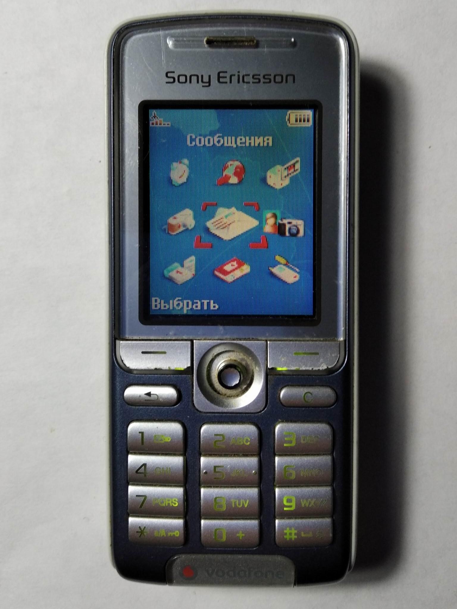 меню Sony Ericsson K310i