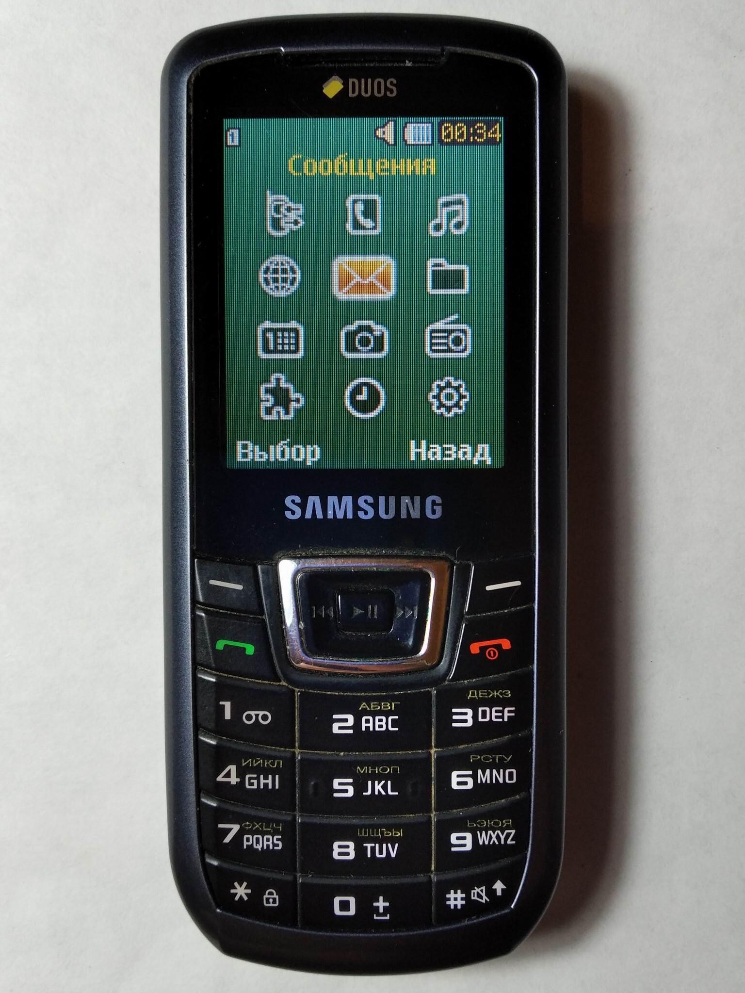 меню Samsung C3212 DuoS