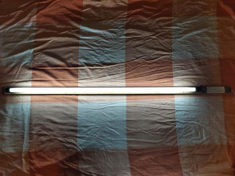 самодельный светильник в работе