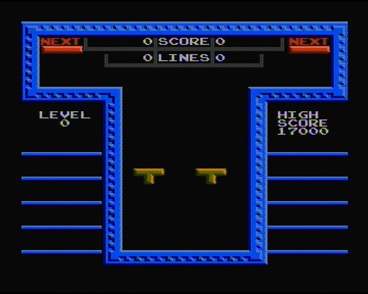 скриншот из игры Tetris