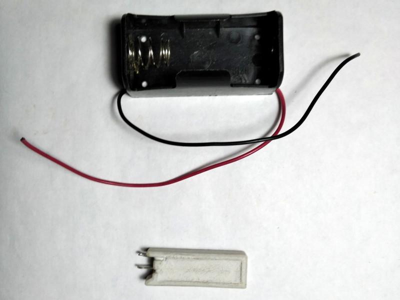 резистор и батарейный отсек для зарядки C