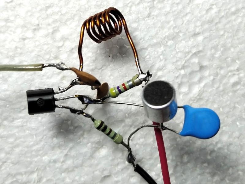 с обратной стороны транзистора