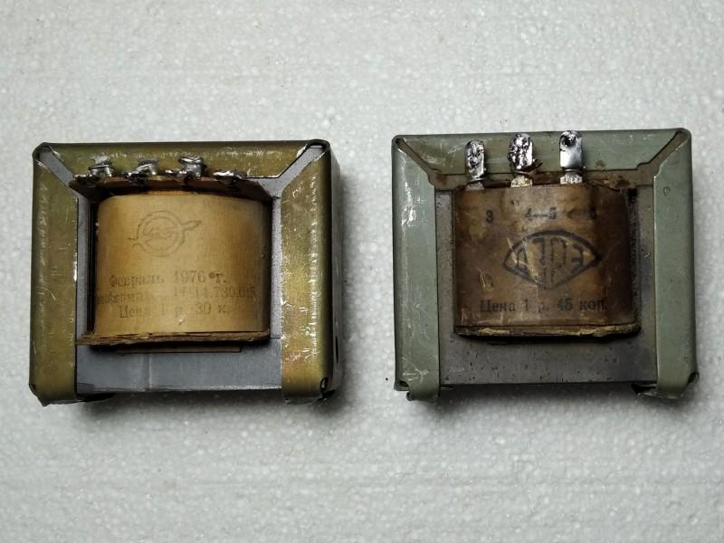звуковой и кадровый трансформаторы