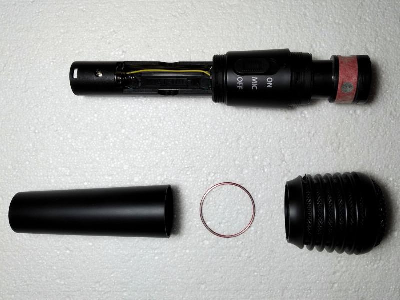 отвинчены верхняя и нижняя часть корпуса