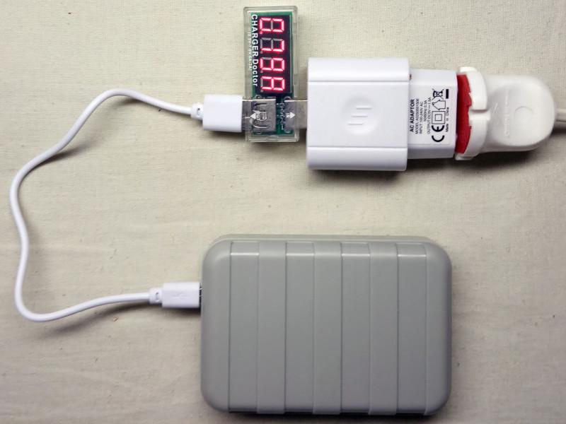 процесс зарядки самого power bank