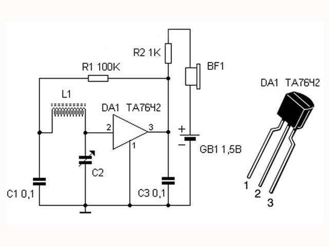 схема радиоприемника на TA7642