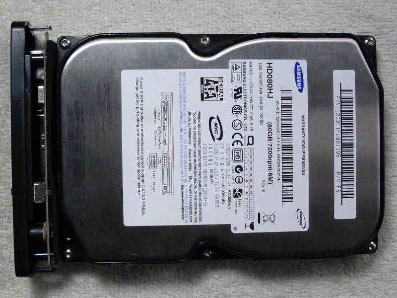 подключен старый HDD