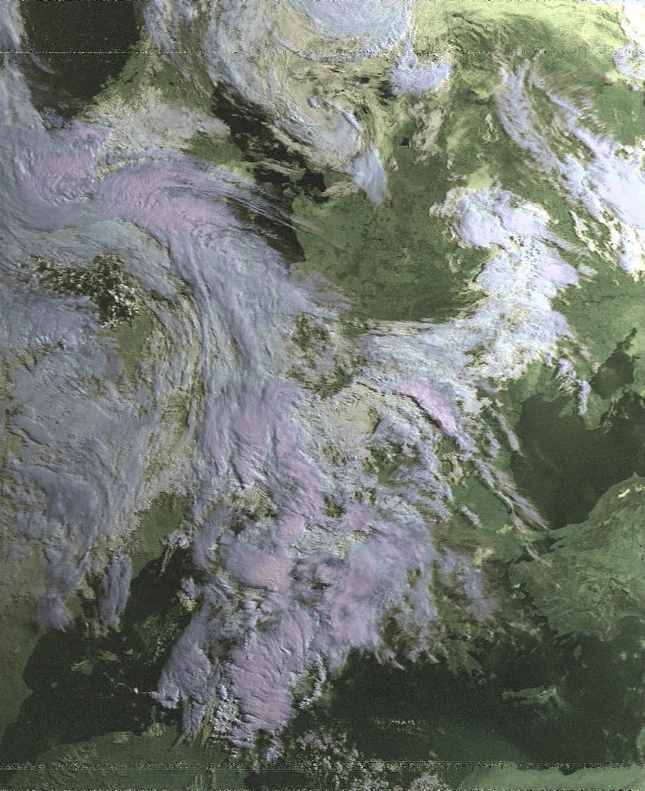 раскрашенный снимок с NOAA-19