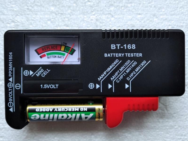 проверка батарейки АА