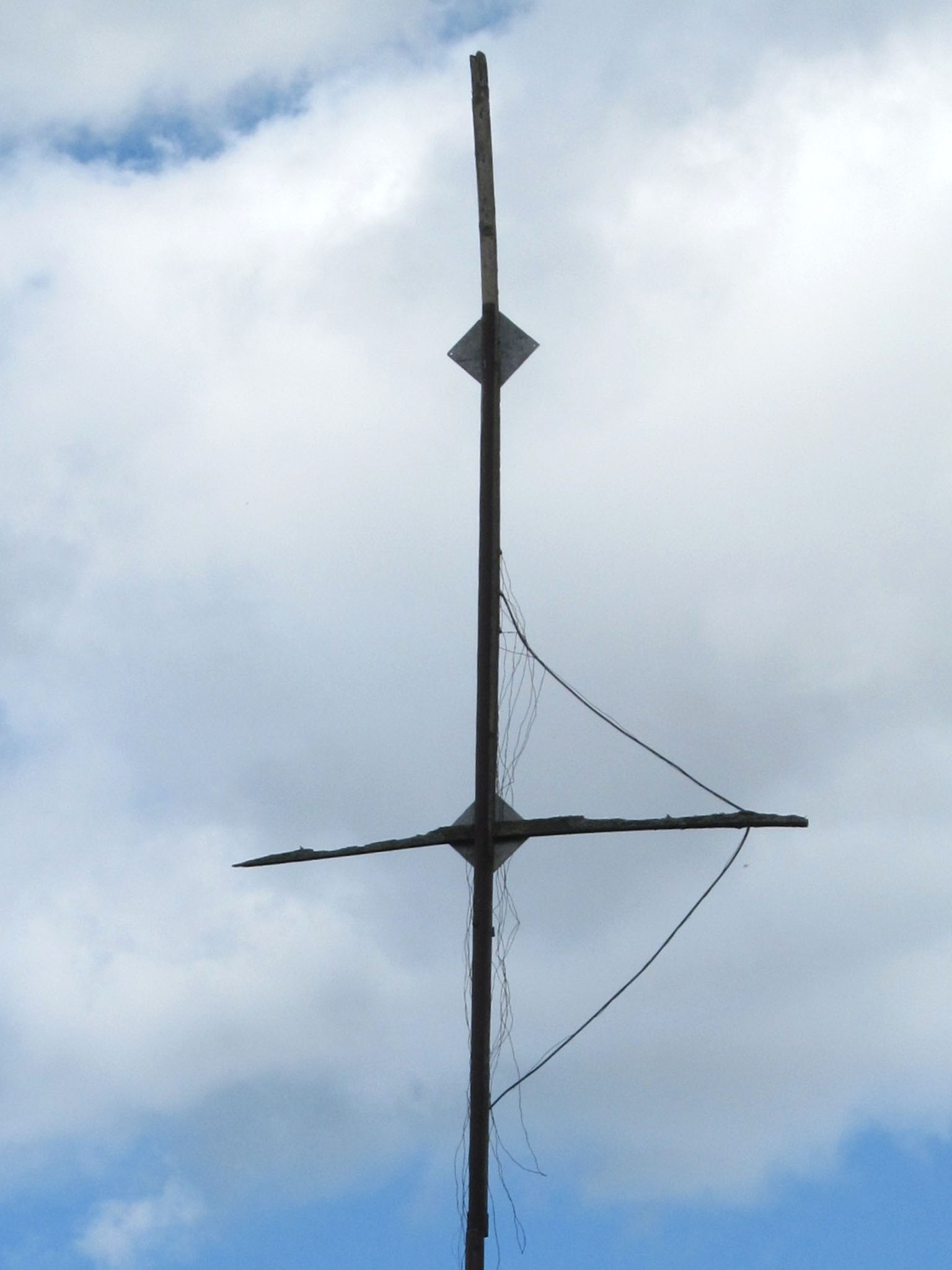 разрушенная полностью антенна